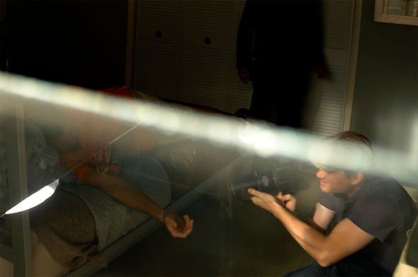Eric Anderson directing the live-action shoot