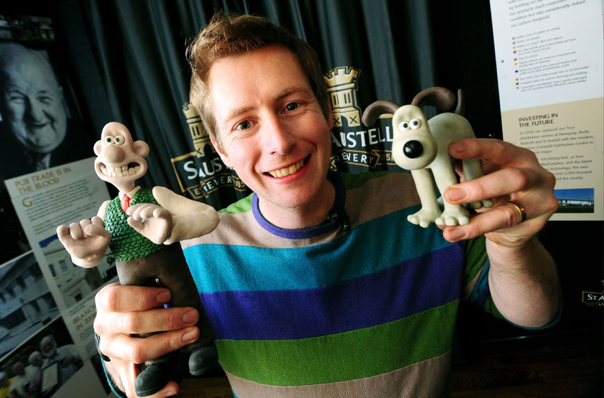 IMAGE: Merlin Crossingham with Wallace and Gromit