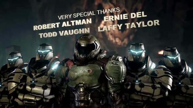 IMAGE: DOOM Marine Curtain Call Still