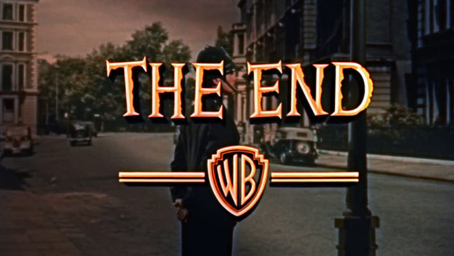"IMAGE: Dial M for Murder ""The End"" card"
