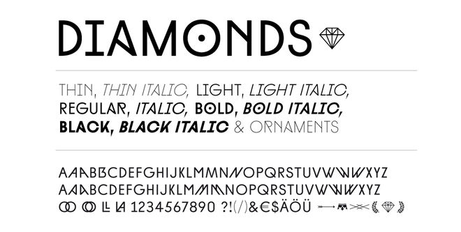 IMAGE: Diamonds typeface