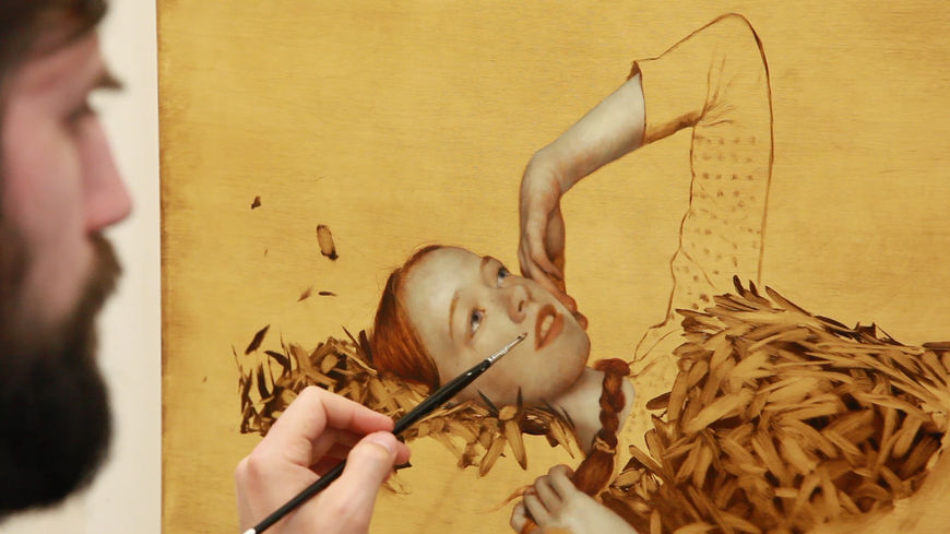 IMAGE: Photo –BTS Kunkle painting Anne lying down