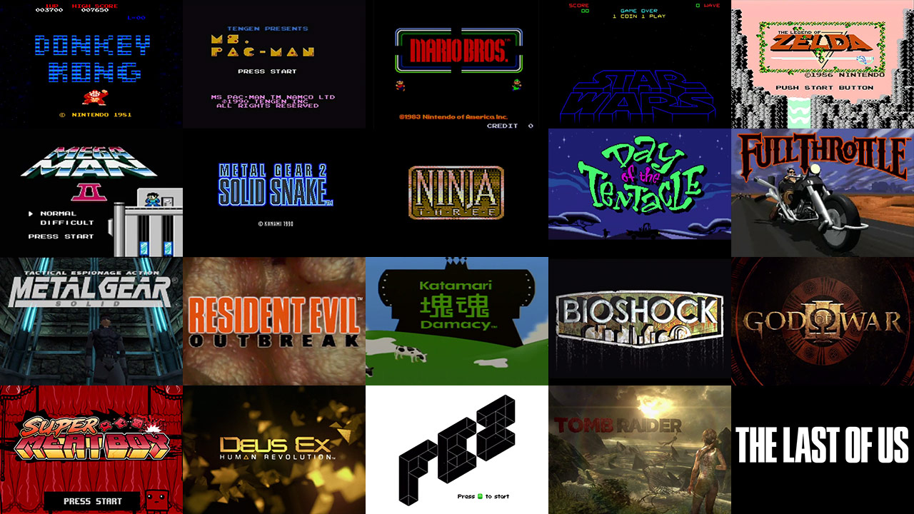 a brief history of video game title design � art of the title