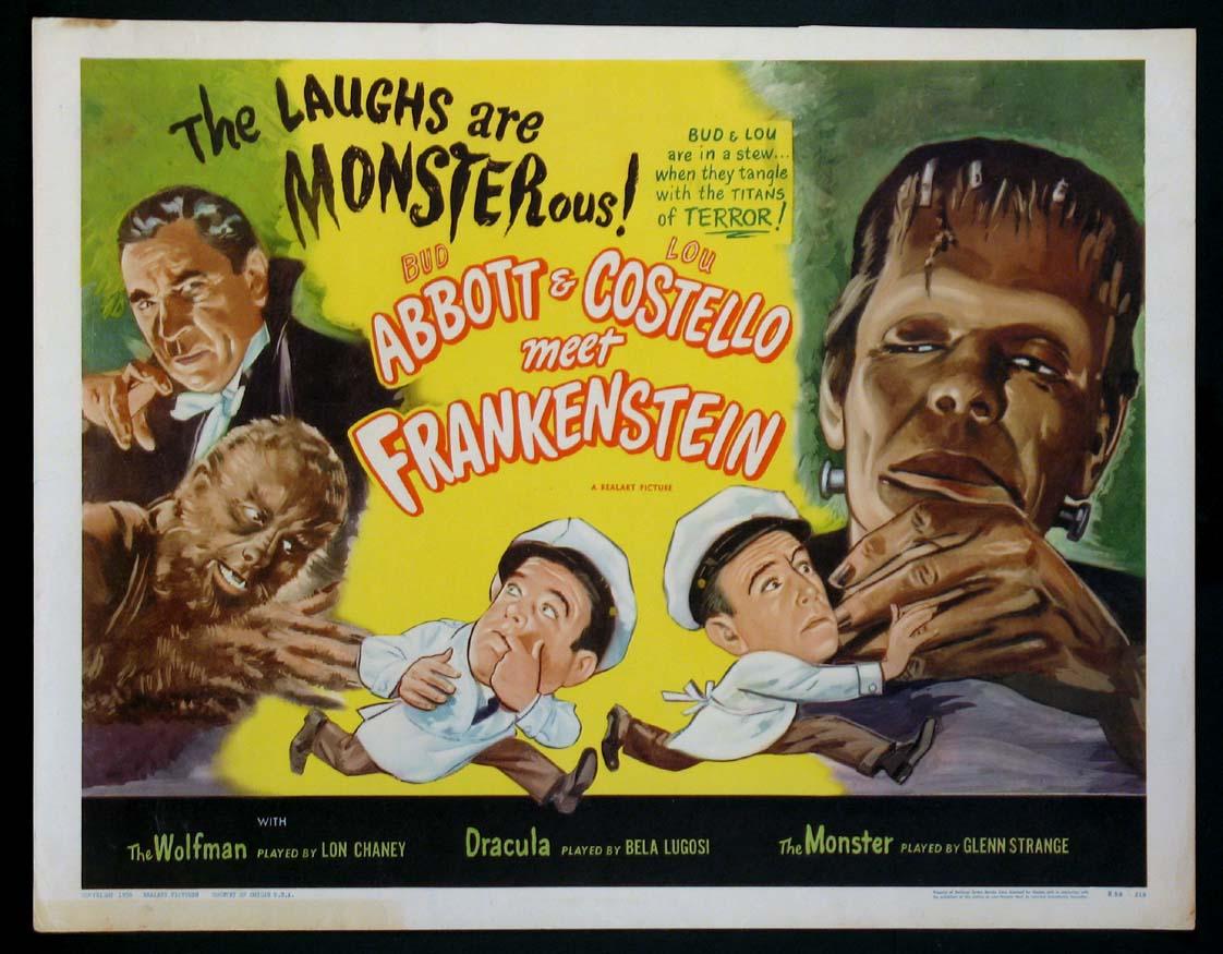 abbott and costello meet frankenstein original poster gold